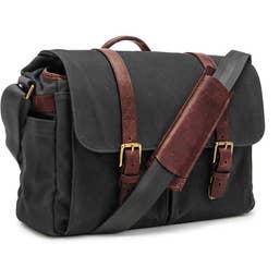 ONA Brixton Camera/Laptop Messenger Bag for Leica (Canvas, Black)