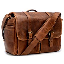 ONA Brixton Camera/Laptop Messenger Bag for Leica (Leather, Antique Cognac)