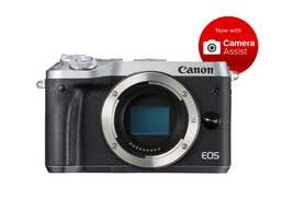 Canon EOS M6 Mirrorless Camera Body - Silver  -  M6BS