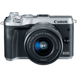 Canon EOS M6 Mirrorless Camera Body with 15-45mm lens - Silver