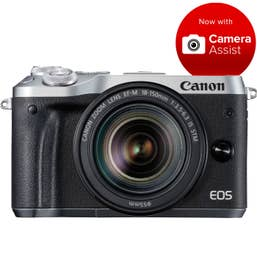 Canon EOS M6 Mirrorless Camera Body with 18-150mm lens - SIlver