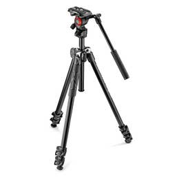 Manfrotto 290 Light Aluminum Tripod with Befree live fluid video head