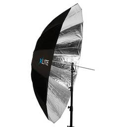 Xlite Jumbo Black / Silver Umbrella 180cm