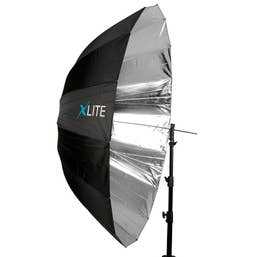Xlite Deep Parabolic Black/Silver Umbrella 165cm