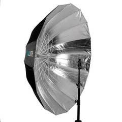 Xlite Deep Parabolic Black/Silver Umbrella 165cm