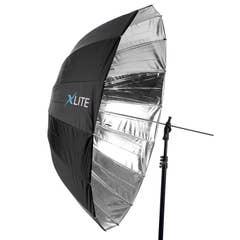 Xlite Deep Parabolic Black / Silver Umbrella 105cm