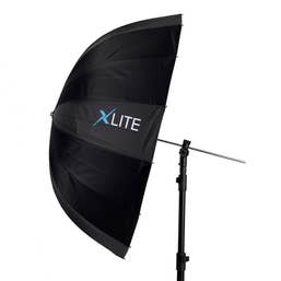 Xlite Deep Parabolic Black / Silver Umbrella 85cm