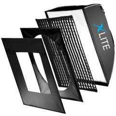 Xlite 90x120cm Pro Recta Softbox + Grid & Mask Fits ProFoto