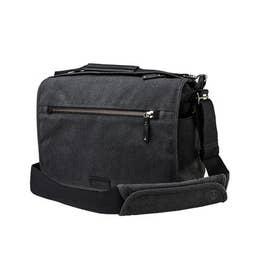 Tenba Cooper 13 DSLR Camera Bag - Grey Canvas/Black Leather