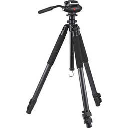 Leica Trica 1 3-Section Carbon Fiber Tripod w/ DH1 Fluid Head
