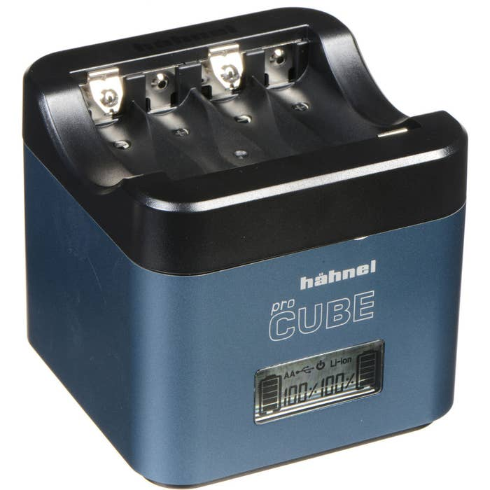 Hahnel ProCube Twin Charger for Fujifilm & Panasonic and AA Batteries