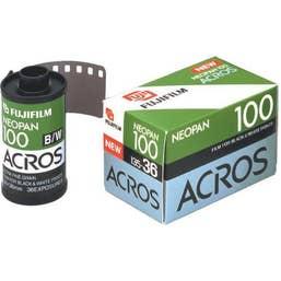 Fujifilm Neopan 100 Acros Black and White Negative Film (35mm Roll Film, 36 Exposures)