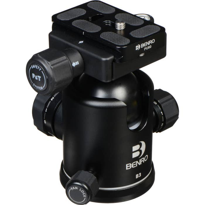 Benro B3 Double Action Ballhead with Seperate Drag Control, PU60 Plate