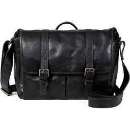 ONA Brixton Messenger Bag - Italian Leather - Black