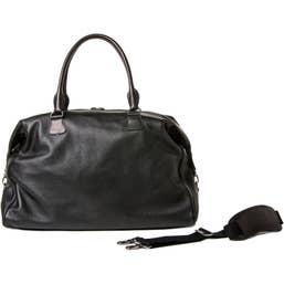 Barber Shop Cesar Cut Leather Traveler Camera Bag (Black)