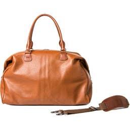 Barber Shop Cesar Cut Leather Traveler Camera Bag (Brown)
