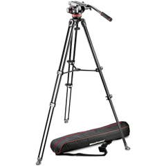 Manfrotto MVH502A Fluid Head and MVT502AM Tripod with Carrying Bag (MVK502AM-1)