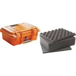 Pelican 1400 Case with Foam  Orange