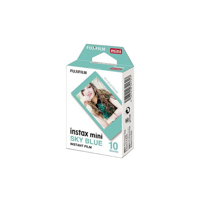 Fujifilm Instax Mini 10pcs Film - Sky Blue Frame
