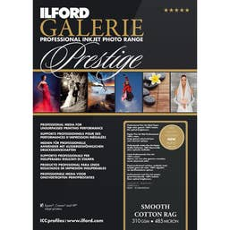 """Ilford Galerie Prestige Smooth Cotton Rag Paper (13 x 19"""", 25 Sheets)"""