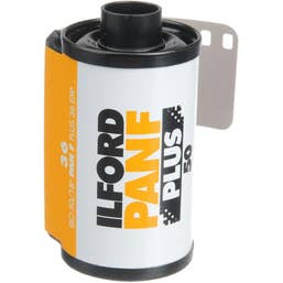 Ilford Pan F Plus Black and White Negative Film (35mm Roll Film, 36 Exposures)