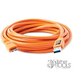 Tether Tools TetherPro USB 3.0 Male Type-A to USB 3.0 Micro-B Cable (4.6m, Orange)