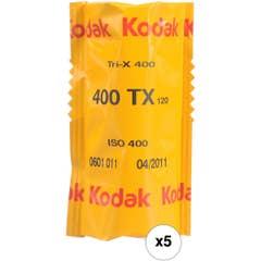 Kodak Professional 400 TRI-X 120 Film 5 Pack