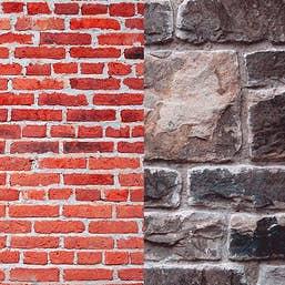 Lastolite Collapsible Background 1.5 x 2.1m - Urban Red Brick / Grey Stone