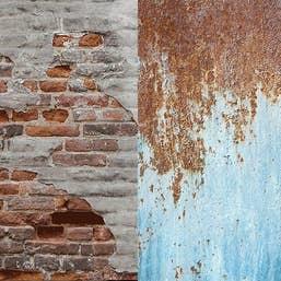 Lastolite Collapsible Background 1.5 x 2.1m - Urban Rusty Metal / Plaster