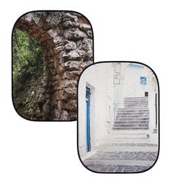 Lastolite Collapsible Background 1.5 x 2.1m - Stone Arch / Grecian Steps