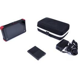 """Ninja Flame (travel case kit) includes  7"""" 4K HDMI / SDI Recording Monitor with Shogun soft travel case, Master Caddy II drive caddy, power supply, XLR breakout cable."""