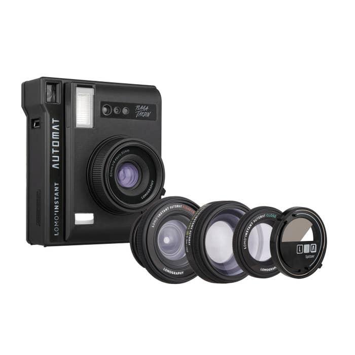 Lomo Instant Automat - Playa Jardin - Black - 3 Lenses and Splitzer