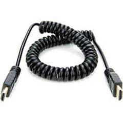 """Atomos AtomFLEX HDMI (Type-A) Male to HDMI (Type-A) Male Coiled Cable (16 to 32"""")"""