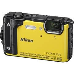 Nikon COOLPIX W300 Digital Camera (Yellow) with Nikon Silicone Protection Jacket.