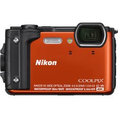 Nikon COOLPIX W300 Digital Camera (Orange) with Nikon Silicone Protection Jacket.
