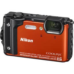 Nikon COOLPIX W300 Digital Camera (Orange) with Nikon Silicone Protection Jacket.