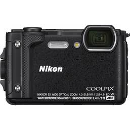 Nikon COOLPIX W300 Digital Camera (Black) with Nikon Silicone Protection Jacket.