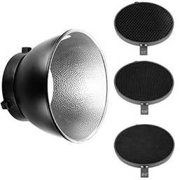 Bowens General Purpose Reflector with Honeycomb Grid Set (3)