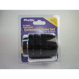 Phottix Extension Tubes AF Macro Nikon - 3 Ring Set  - for Extreme Close-Up Photography