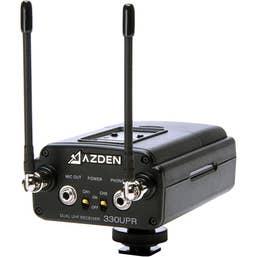 Azden 330UPR UHF On-Camera Dual Receiver