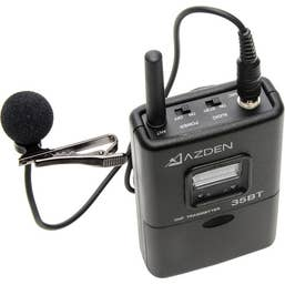 Azden 35BT Portable Wireless Bodypack Transmitter with EX503 Mic