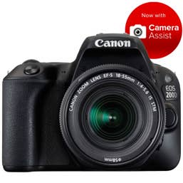 Canon EOS 200D with EFS 18-55mm f/4 - 5.6 STM Lens Kit