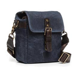 ONA Bond Street Waxed Canvas Camera Bag (Oxford Navy Blue)
