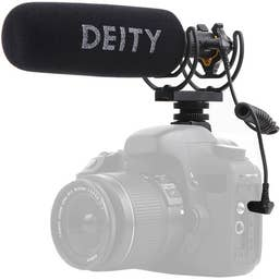 Deity V-Mic D3 Pro Shotgun Microphone, stepless gain, supercardiod directional microphone.