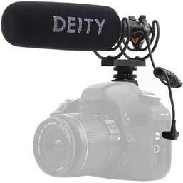 Deity V-Mic D3 Pro Shotgun Microphone, stepless gain, supercardiod directional microphone.
