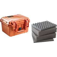 Pelican 1300 Case with Foam - Orange