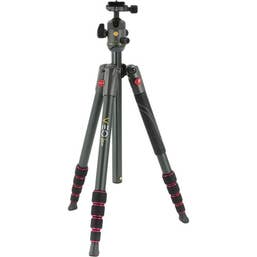 Vanguard VEO 2 - 235AB Aluminum Tripod with Ball Head - Red