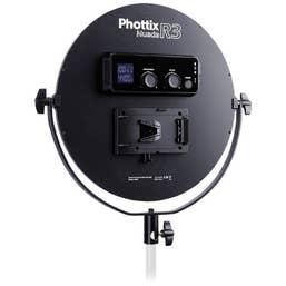 Phottix Nuada R3 Round LED Kit with Phottix Saldo 280cm Light Stand