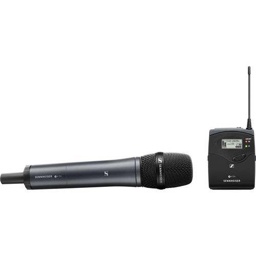 Sennheiser EW135P G4-G Portable Handheld Wireless Mic System, dependable wireless audio solution.