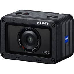 "Sony RX0 MK 2 / MK II kit angled - 1"" sensor waterproof action camera for professional content creation and vlogging for the filmmaker on the go."